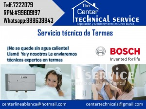 servicios de instalacion de termas electricas bosch telf.7222079