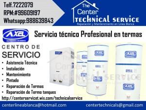 servicio tecnico termas axel reparacion /a domicilio
