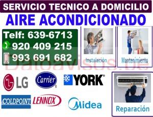 servicio tecnico york, midea, lg a domicilio (639-6713) reparacion aire acondicionado