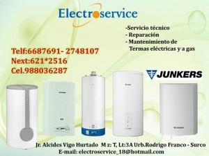servicio t�cnico de termas junkers  electroservice