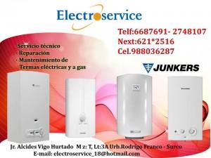 servicio t�cnico = junkers= reparaci�n de termas el�ctricas 988036287