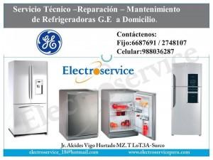 servicio tecnico de( refrigeradoras ) general electric♫2748107
