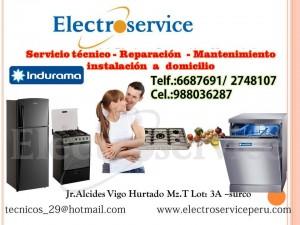 servicio t�cnico autorizado  * *6687691 *  indurama  ***refrigeradoras