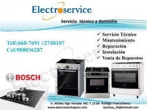 servicio t�cnico de cocinas bosch  a domicilio telf: 6687691 lima