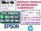 reparacion y mantenimiento de impresoras hp (993-691-682) a domicilio