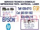 reparación y mantenimiento (993-691-682) de computadoras, impresoras epson y hp, laptop a domicilio