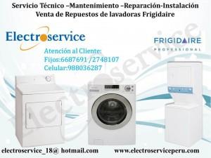 servicio técnico reparación  de lavadoras & secadoras frigidaire en li